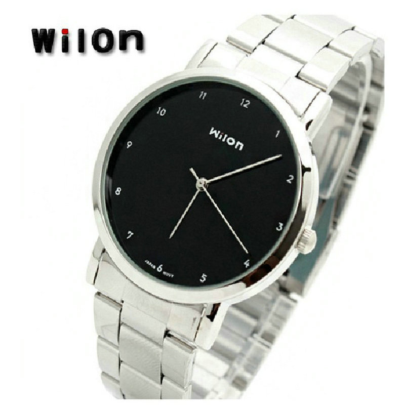Authentic WILON veyron couple watches Ms contracted pointer steel belt table Han edition 906 students<br><br>Aliexpress
