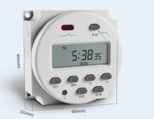 DC 12V Digital Round LCD Power Programmable Timer Time Relay 16A Switch Support 17-times Daily Weekly Program  CN101