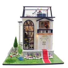 DIY Wooden Dolls house Miniatures Dollhouse 3D Handmade White Chocolate room English instruction&Furniture X'mas Gift(China)