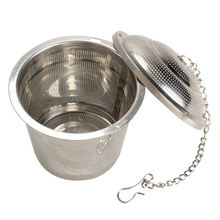 Stainless Steel Tea Strainers Tea Mesh Herbal Ball Reusable Tea Infuser Spice Strainer Locking Tea Filter Dia 4.5cm/5cm/6.5cm(China)