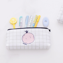Popular Makeup Bags Pen Case Canvas Cortex Large Capacity Pencil Case Pen Holder Cosmetic Bags(China)