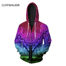 Dropshiping Fashion Funny For Men Women 3D Hoodies Print Galaxy Trees Designed Sweatshirts Long Sleeve Pullover Clothes Tops(China)
