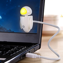 USB LED Night Light Robot Style Book Lamp With Flexible arm and Touch Switch Dimmable Lighting