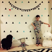 INS style cute baby  Wall Sticker Removable  Waterproof  PVC  No Pollution material for kids room decoration