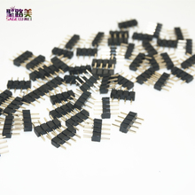 100pcs/lot 4Pin Needle Connector Male Plug Connector Adapter no welding solderlFor RGB 5050 3528 LED Strip Lights Tape Connect(China)