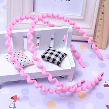 1 PC Hot Women Girls Kids Korean Wavy Fashion HairBand Headwear Hair Accessory 9 Colors Wholesale(China)