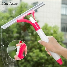 1pc Multifunctional Spray Water Glass Scratch Car Glazing Door Floor Wash Cleaner Spray Type Cleaning Brush 4colors easy use(China)