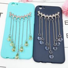 Crystal Tassel Stickers for Phones Muticolor Gem Summer Decoration for Girl Fashion Hanging Ornament Accessories/Adornment/Charm