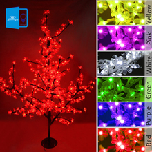 Christmas LED Cherry Blossom Tree Light 0.8M 1.2M Tree Lights Fairy Lights Landscape Outdoor Lighting for Holiday Wedding Deco(China)