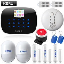 Kerui 2G/4G signal LCD Wireless GSM Autodial SMS Home Security Burglar Intruder Alarm Support English Russian Voice