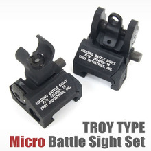 Tactical Troy Front and Rear Folding Back-up Battle sight HK Style Black(China)