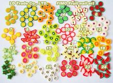 fimo slices, 1000pcs,, mix fruit fimo slices, nail art Polymer Clay DIY Slice Decoration Nail Sticker(China)
