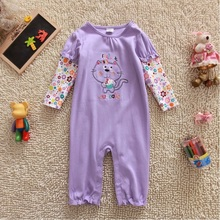 purple cat baby girl clothes newborn Pajamas Romper long sleeve jumpsuit newborn roupas bebe costume pijama