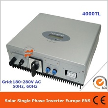 4000W 1 phase DC AC  solar grid tie inverter Max. efficiency of 97.8% and 100v-580v wide PV input, available for all countries