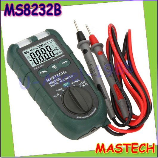1pcs MASTECH MS8232B 4 Mini Auto Range Digital Multimeter DMM Frequency Capacitance Meter w/Flash Light &amp; Duty Cycle Tester<br><br>Aliexpress