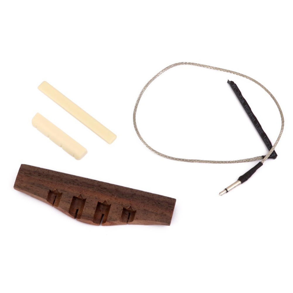 HOT 5X Ukulele Rosewood Bridge and Piezo Bridge with Saddle and Pickup bar<br>