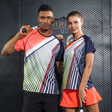 Women/Men table tennis clothes team training T Shirts jerseys Sportswear Quick Dry breathable Color Pingpong badminton shirt