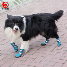 Cheap Large pet dog shoes high quality Spring summer waterproof materail boots for big dog Rain shoes ZL125(China)