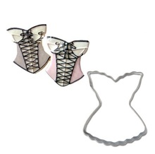 Sexy Lace Dress/underwear Shape Cookie Cutter Mould Stainless Steel Metal Mold Pastry Biscuit Cake Tools Baking Product
