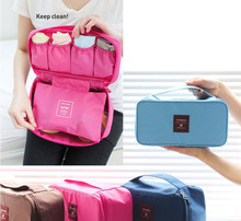 Fashion travel Essentials Multifunctional Underwear Storage Bags Bra Package Female Travel Bag Cosmetic Bag Free Shipping(China)
