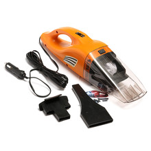Portable Car Vacuum Cleaner Wet Dry Dual Use Cigar Lighter Vacuum Dirt Cleaner With Power 100W 12V 145CM Cable Green Orange