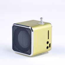 Promotion Price Unique TD-V26 Micro SD TF USB Mini Speaker MP3 Music Player Portable FM Radio Stereo For PC Laptop 6 colors(China)