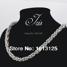Vintage 8.0mm*56cm 316L stainless steel necklaces for men,big punk link chain necklaces sterling steel jewelry gifts 6pcs/lot(China)