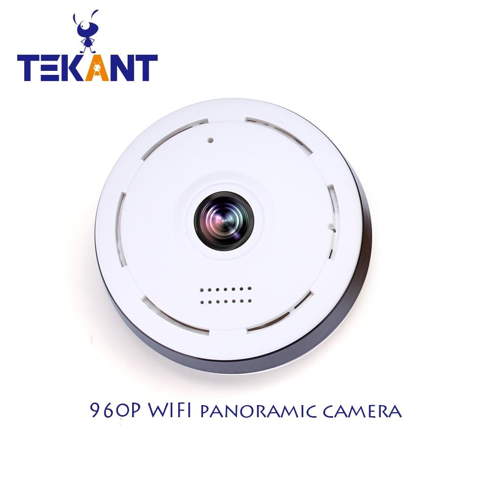 HD FishEye IP camera 960P 360 degree Full View Mini CCTV Camera 1.3MP Network Home Security WiFi VR Camera Panoramic IR TEKANT<br>