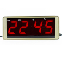 Ultra large display LED digital wall clock metal case plug for free frozen alarm clock led electronic table clock despertador