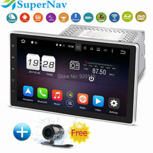 "10.1"" 8 Core Android 6.0 Universal 2DIN Car DVD GPS Navigation with 2G CPU 32G RAM Wifi Bluetooth Radio DVD GPS Navigation(China)"