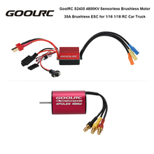 GoolRC S2435 4800KV Sensorless Brushless Motor and 35A Brushless ESC Combo Set for 1:16 1:18 RC Car Truck Toys Model Part(China)