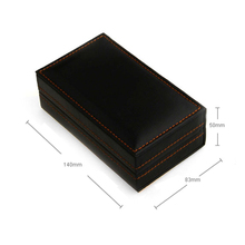 Black PU Leather 4 Pairs Cufflinks Holder Cuff Link Box Christmas Gift