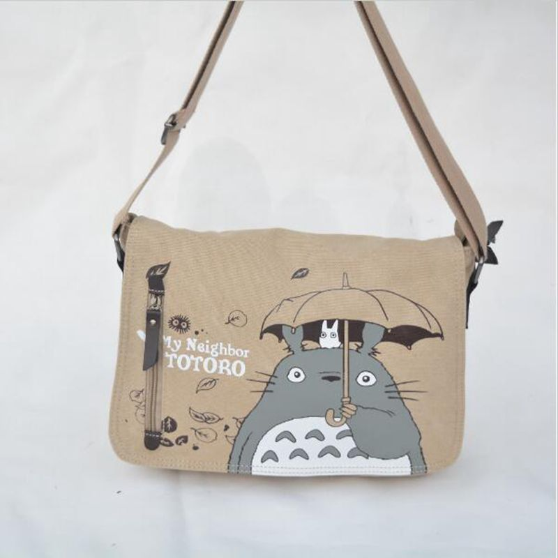 Free shipping  2017 Anime My Neighbor Totoro Messenger Canvas Bag Shoulder Bag Sling Pack My Neighbor Totoro Cosplay<br><br>Aliexpress