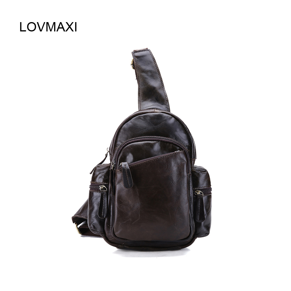 Mens small messenger bags Genuine leather small handbags 100% cowhide leather shoulder bags vintage chest bag<br><br>Aliexpress