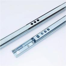 1 Pair of Useful Telescopic Steel Ball Bearing Metal Drawer Slide Runner Home Cabinet 180mm-450mm New Durable Hand Tool Parts