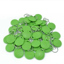 Green 100 Pcs 125Khz RFID Proximity ID Card Token Tags Key Keyfobs For Door Access Control System