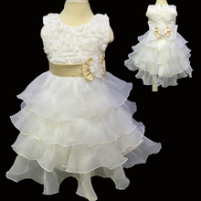 2015 new wedding party girl Flower Baby Pageant dress first communion dress Low Price child dresses bridesmaid C13-1