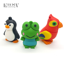 Hot Sale USB 2.0 Animals Cartoon Pen Drive Usb Memory Stick 4GB 8GB 16GB 32G 64G USB Flash Drive Pendrive(China)