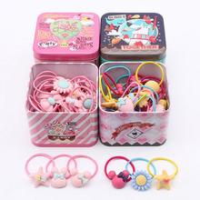 Buy New 40Pc Elastic Rubber hair bands Girls Kitty floral ponytail holders headband Cartoon mixing elastic hair ring accessories Q18 for $7.58 in AliExpress store