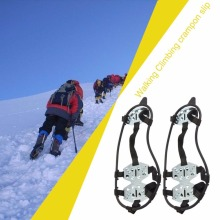 18 Teeth Crampons Anti Fall Winter Snow Skiing Mountain Climbing Non Slipping Shoes Cover Perfect For Outdoor Activicies(China)