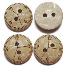 ZIEENE 50PCs 100PCs Natural Color Round Clock Table Coconut Shell Buttons 13mm DIY Sewing Scrapbooking Handmade Crafts 2 Holes