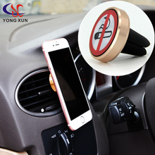 Universal cell phone GPS air vent magnetic car mount cradle holder no smoking logo fit for bmw ford audi kia vw opel accessories(China)
