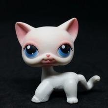 Animal Littlest Pet Pink White Pink Short Hair Cat Kitty Toy LPS 64(China)