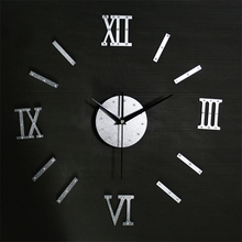 2017 New  Roman numeral diy home decor large digital wall clocks modern design,decorative mirror wall clock watches vintage