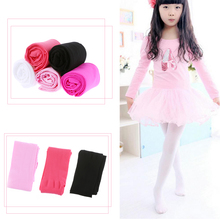 1 x Soft Kawaii Lovely Velvet Children Girls Pantyhose Tights Kids Opaque Dance Pants Candy Colors for 4-9 Years(China)