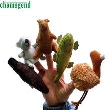 CHAMSGEND 5pcs Finger Hand Puppets Plush Toys For Kids Forrest Animal Finger Gloves puppets baby reborn dolls Education Toy Oct1