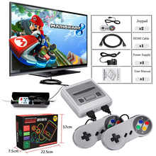 Super Mini HDMI TV familia 8 bits SNES consola Retro clásico salida HDMI HD TV jugador Handheld del juego incorporado 621 juegos(China)