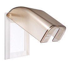 KRST 86 Type Concealed Wall Switch Frosted Waterproof Box Splash Box Splash Touch Switch Cover Scrub Gold Home(China)