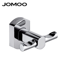 JOMOO Wall Mounted Brass Chrome Finish Coat Hook Robe Hooks Kitchen Bathroom Single Towel Robe Hat Hanger Bathroom Hardware(China)