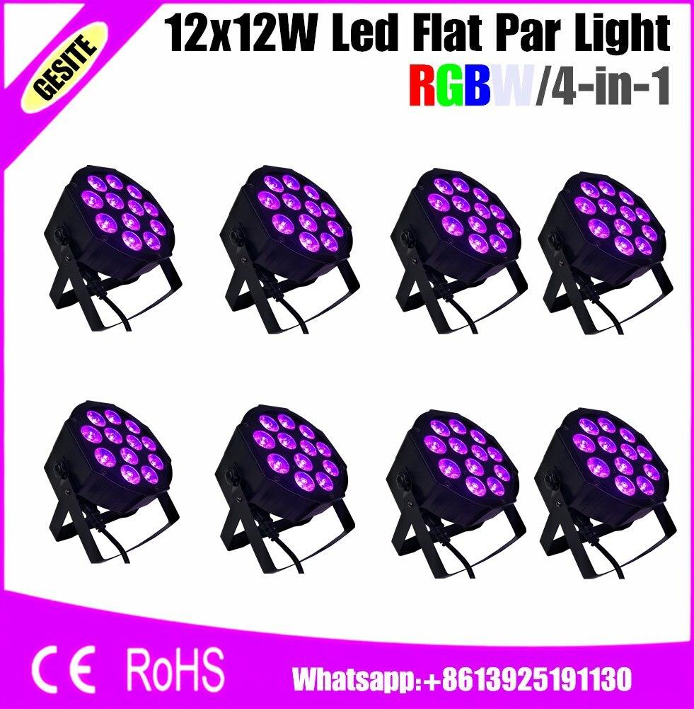 8pcs/lots Quiet Flat RGBW 4in1  led par 12pcs wall wash light quad color<br>